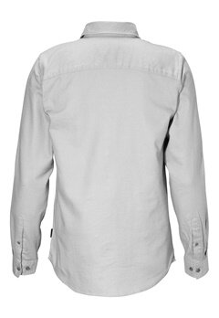 JACK&JONES Kris ls Shirt Light Grey Melange Bubbleroom.no