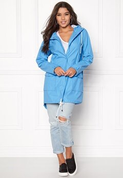 VILA Rain Jacket Silver Lake Blue Bubbleroom.no