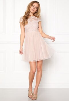 VILA Ulricana Short Dress Silver Peony Bubbleroom.se