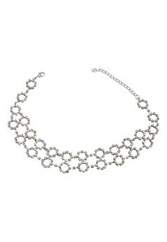 Love Rocks Rings Crystal Choker Silver colour Bubbleroom.se