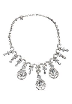 Love Rocks Cascade Necklace Silver colour Bubbleroom.se
