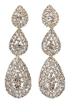 Love Rocks Byzanine Pave Earring Gold Bubbleroom.se