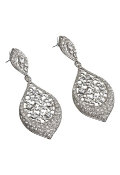 Love Rocks Encrusted Tear Drop Silver Colour Bubbleroom.no
