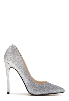 Steve Madden Wicket G Pump Silver Glitter Bubbleroom.no
