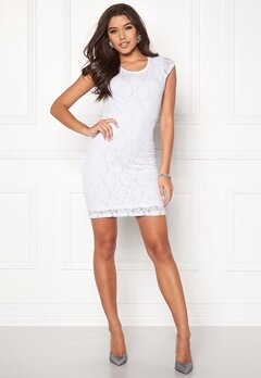 VERO MODA Lilly Lace Short Dress Bright White Bubbleroom.fi