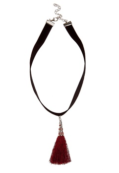 Pixie & Diamond Ladies Necklace Red Black Bubbleroom.no