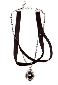 Pixie & Diamond Ladies Necklace Black Bubbleroom.no