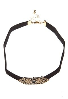 Pixie & Diamond Ladies Choker Gold Bubbleroom.se