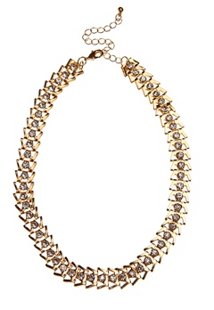 Pixie & Diamond Ladies Choker Black/Gold Bubbleroom.no