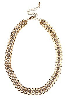 Pixie & Diamond Ladies Choker Black/Gold Bubbleroom.se
