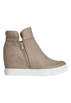 Steve Madden Linqs-P Wedge Sneaker Grey Bubbleroom.no