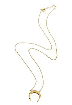 NORR by Erbs New Moon Necklace Gold Bubbleroom.se