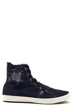 Odd Molly Butterfly High Sneakers Dark Blue Bubbleroom.se