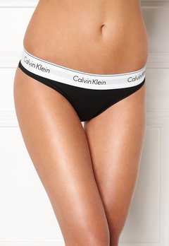 Calvin Klein CK Cotton Thong 001 Black Bubbleroom.se