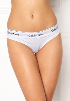 Calvin Klein CK Cotton Thong 100 White Bubbleroom.se
