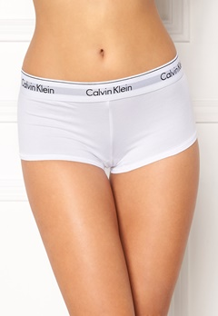 Calvin Klein CK Cotton Boyshort 100 White Bubbleroom.se