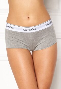 Calvin Klein CK Cotton Boyshort 020 Grey Heather Bubbleroom.fi