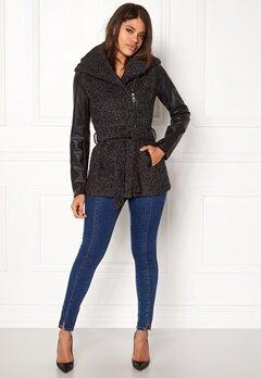 ONLY New Lisford Wool Coat Dark grey melange Bubbleroom.se