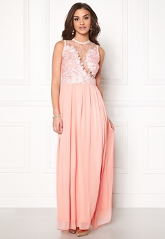 AX Paris Crochet Top Maxi Dress Pink Bubbleroom.dk