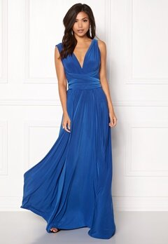Goddiva Multi Tie Maxi Dress Royal Bubbleroom.no