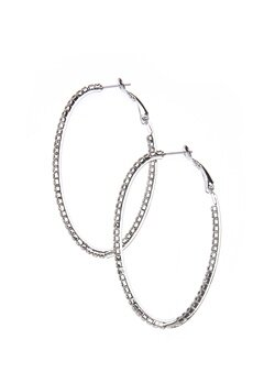 Love Rocks Single Oval Crystal Silver Bubbleroom.se