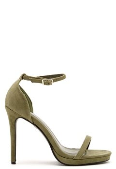 AX Paris Barely There Sandals Khaki Suede Bubbleroom.se