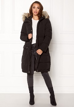 VILA California Down Coat Black Bubbleroom.no