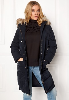 VILA California Down Coat Dark Navy Bubbleroom.fi