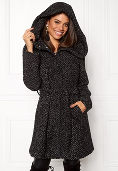 VILA Cama New Wool Coat Black Detail Bubbleroom.fi