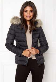 TOMMY HILFIGER DENIM Basic Down Jacket Black beauty Bubbleroom.fi