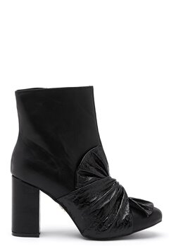 LOST INK Daisy Bow Ankle Boot Black Bubbleroom.se