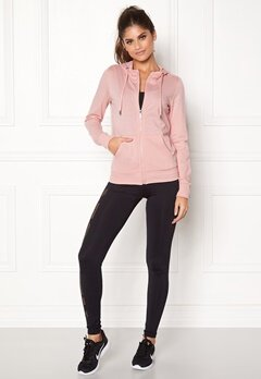 ONLY PLAY Lina Zip Hood Sweat Silver Pink Bubbleroom.fi