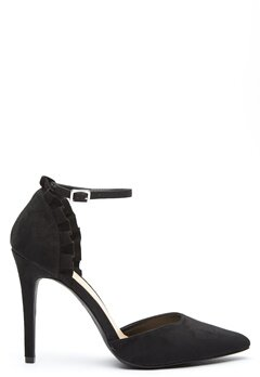 New Look Serum Frill Ruffle Heel Black Bubbleroom.se