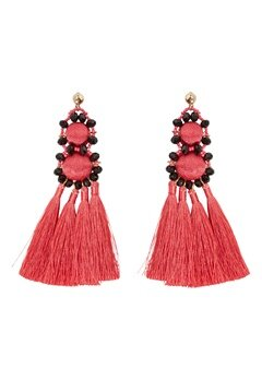 Pieces Dalgas Earrings Rouge Red Bubbleroom.se