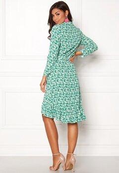 OBJECT Holly Bay S/S Wrap Dress Oatmeal Bubbleroom.se