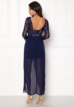 Girl In Mind Evening Maxi Dress Blue Bubbleroom.fi