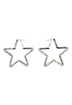 Love Rocks Star Cut Out Earrings Silver Bubbleroom.se