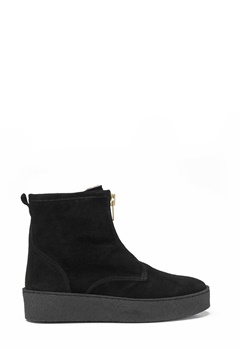 Billi Bi Black Suede/Gold Boots Black Bubbleroom.se