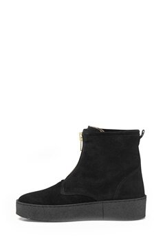Billi Bi Black Suede/Gold Boots Black Bubbleroom.fi