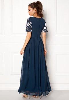 AngelEye Short Sleeve Sequin Dress Navy Bubbleroom.se