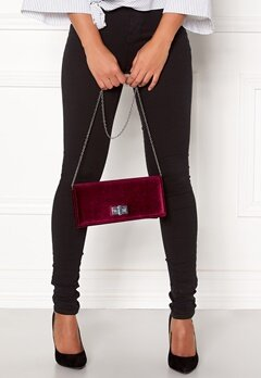 New Look Vespa Velvet Clutch Burgundy Bubbleroom.fi