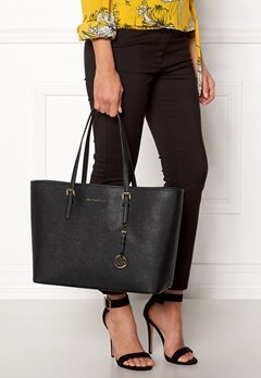 Michael Michael Kors Jet Set Travel Mid Tote Black Bubbleroom.fi
