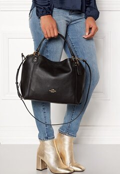 COACH Edie Leather Bag LIBLK Black Bubbleroom.se