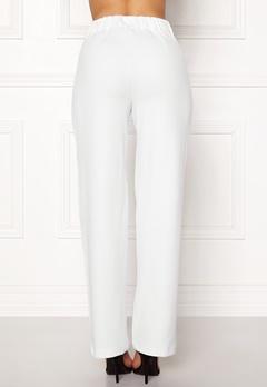 Pieces Vicca HW Vide Pants Bright White Bubbleroom.se