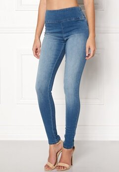 Pieces High Shape-Up Jeggings Medium Blue Denim Bubbleroom.se