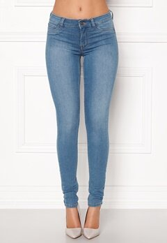 Pieces Shape-Up MW Jeggings Light Blue Denim Bubbleroom.fi