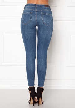 Pieces Five Delly B185 MW Jeans Medium Blue Denim Bubbleroom.se