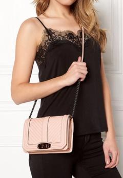 Rebecca Minkoff Chevron Quilted Small Bag Soft Blush Bubbleroom.se