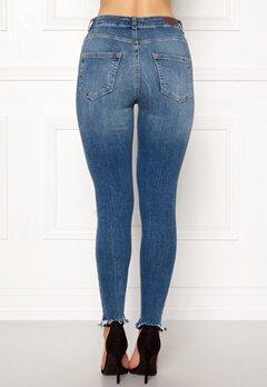Pieces Highfive Delly Jeans Medium Blue Denim Bubbleroom.se