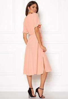 New Look Ram Tie Wrap Maxi Dress Shell Pink Bubbleroom.fi